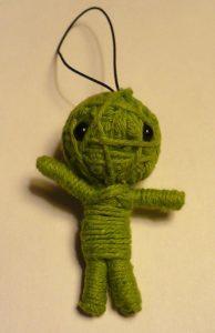 artesanato com linha boneco