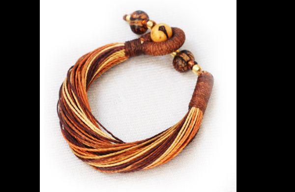 artesanato com linha colar
