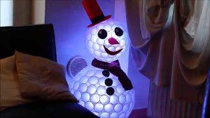 boneco de neve com psica pisca