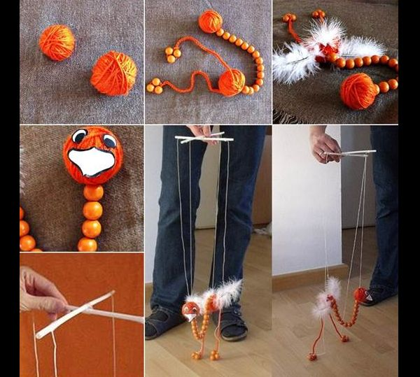 artesanato com linha marionete