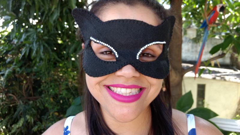 mascara de carnaval de feltro