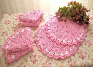 croche rosa
