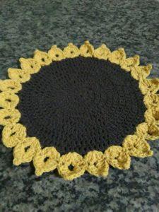 croche girassol