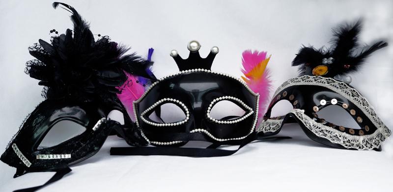 mascara de carnaval chiques