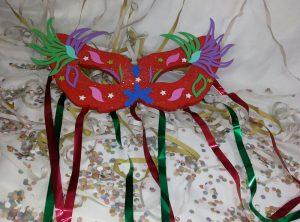 mascara de carnaval tutorial