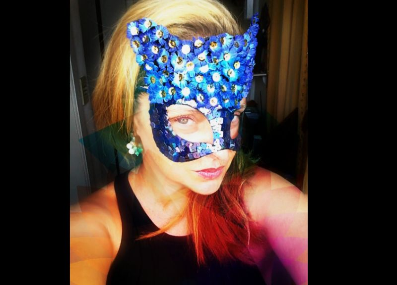 mascara de carnaval mulher gato