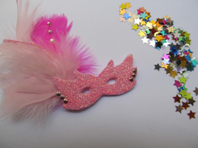 mascara de carnaval pink