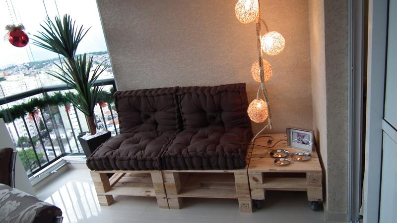 sofá de palete simples