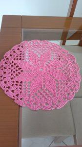 croche rosa claro