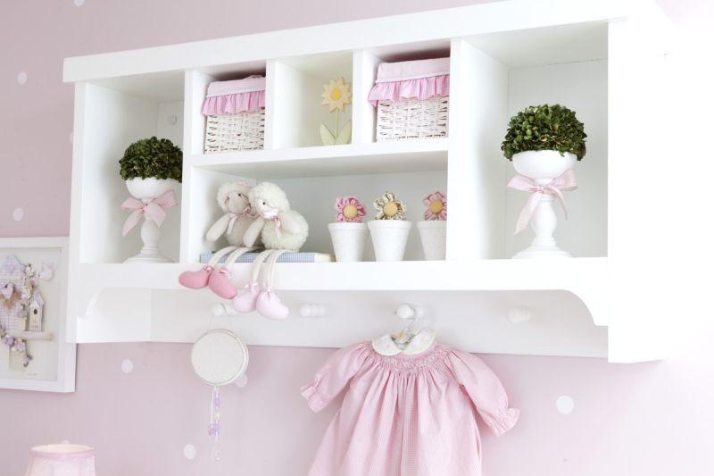 prateleira para quarto de bebe gancho