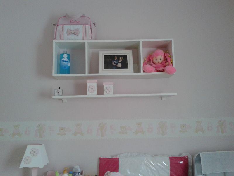 prateleira para quarto de bebe linda