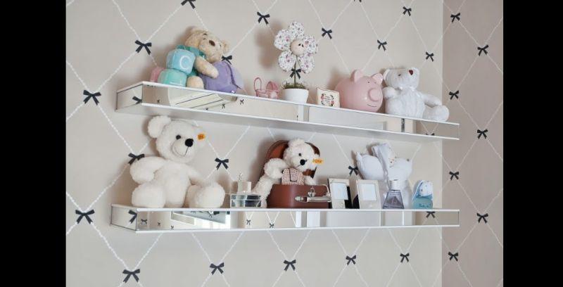 prateleira para quarto de bebe chique