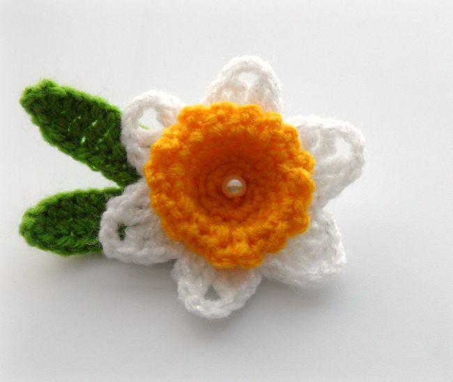 flor de croche com contas 30