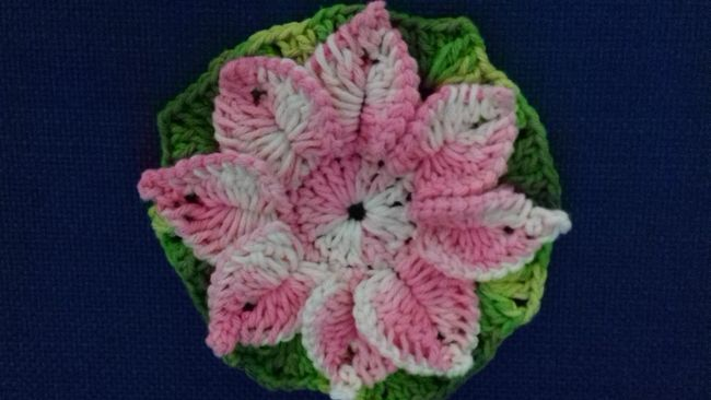 flor de croche tapete barbante 5