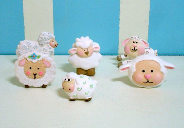 artesanato de resina ovelhas 9
