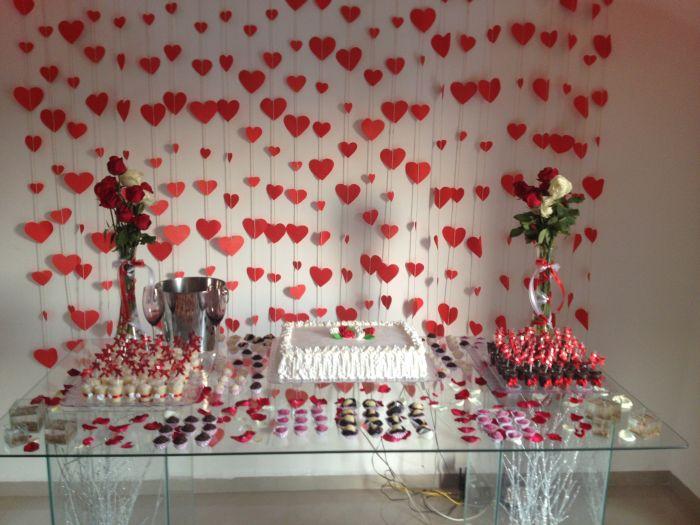 casamento cortina de coração 3