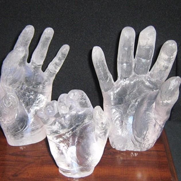 cristal artesanato de resina mao 17