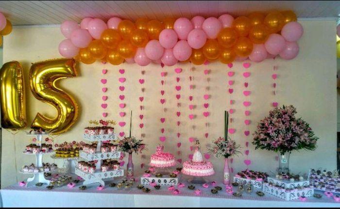 festa cortina de coração 15 anos 13