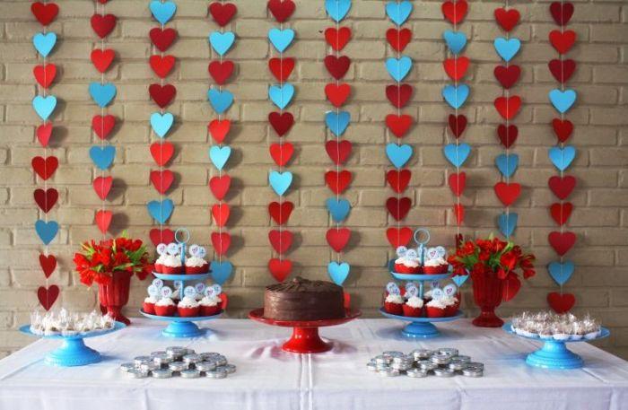 noivado cortina de coração colorido 8