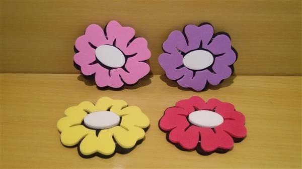 flores simples em eva