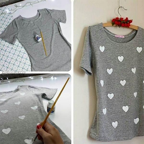 como customizar camiseta de malha