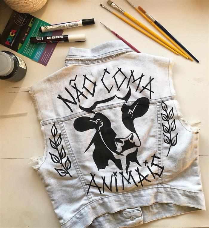 como customizar camiseta de rock