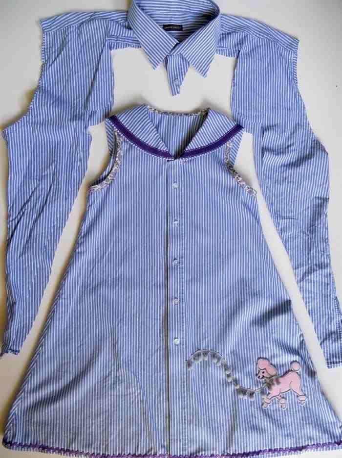 como transformar camiseta em vestido