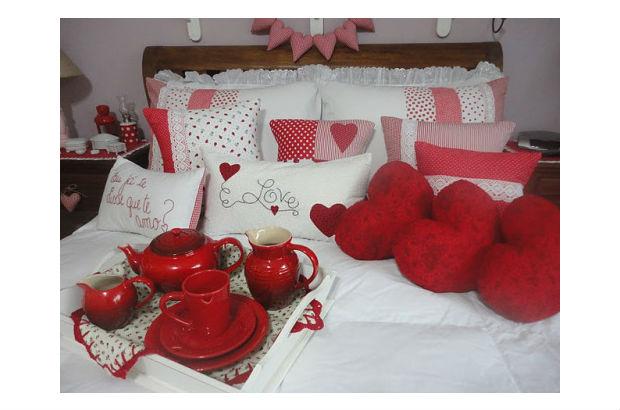 Decoraç u00e3o roupa de cama Dia dos Namorados Vale o Clique!