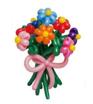 Como fazer buquê de flores com balões