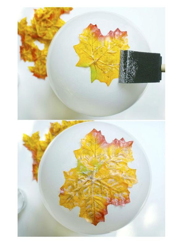 Artesanato Nomes Lojas ~ Artesanato com folhas deárvores passo a passo