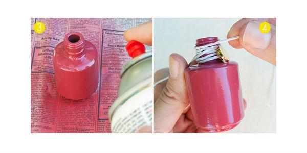 Adesivo De Olho E Boca ~ Mini vasos de vidro de esmalte passo a passo