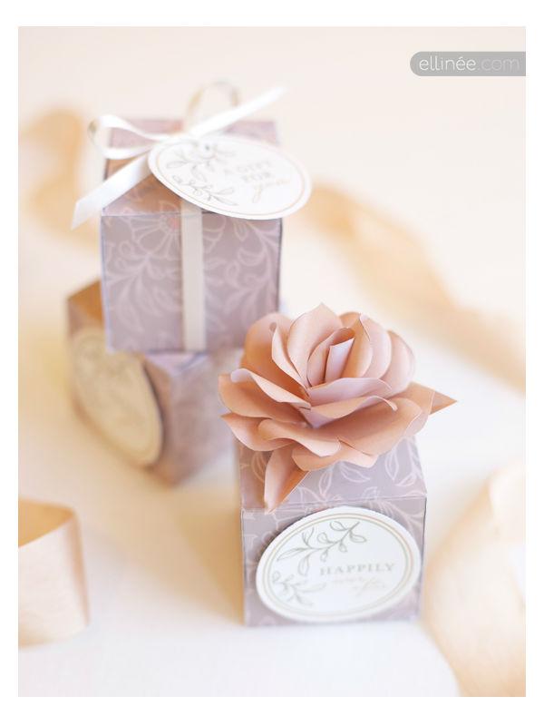 Molde de caixinha quadrada com flor for Packaging ropa interior