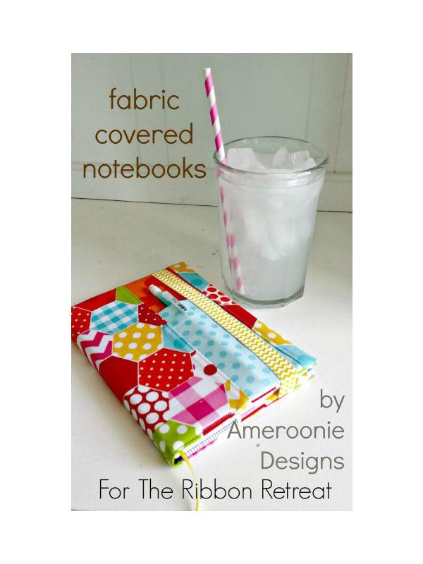 Capa de tecido para caderno com porta caneta passo a passo