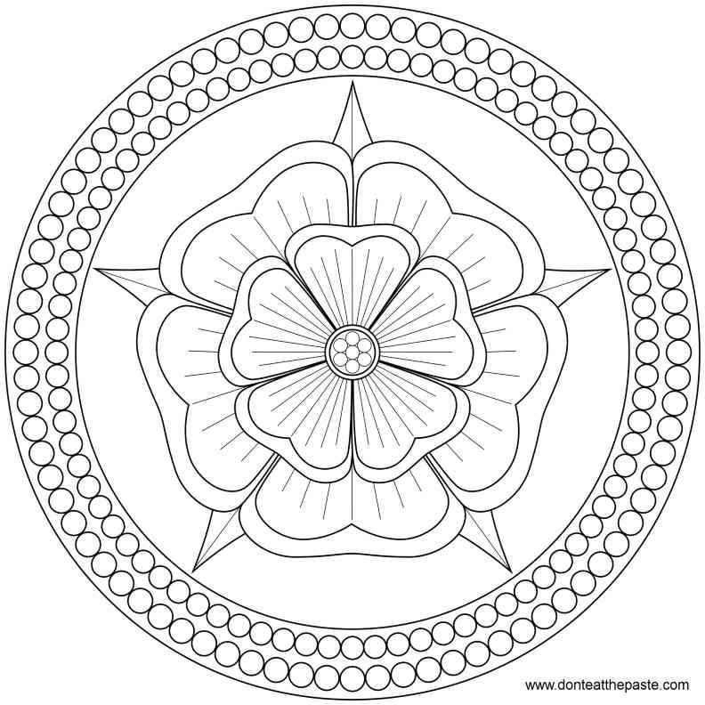 Colour Line Art Design : Desenhos de mandalas para colorir e desestressar
