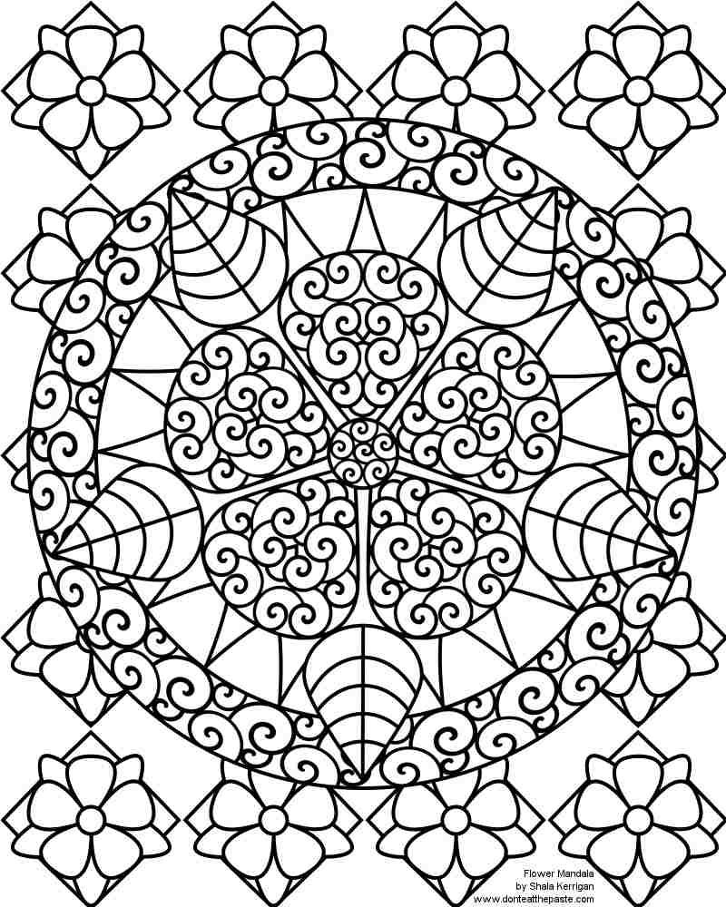 12 Desenhos De Mandalas Para Colorir E Desestressar