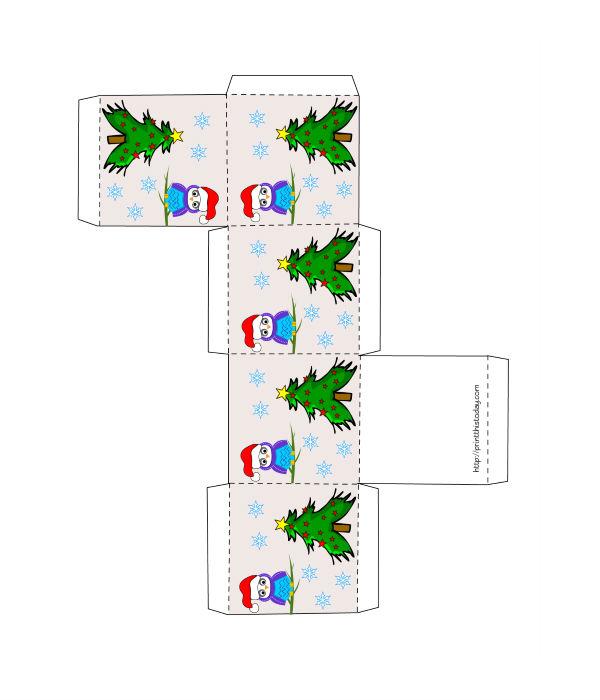 Moldes De Caixinhas De Papel Para O Natal Gratis