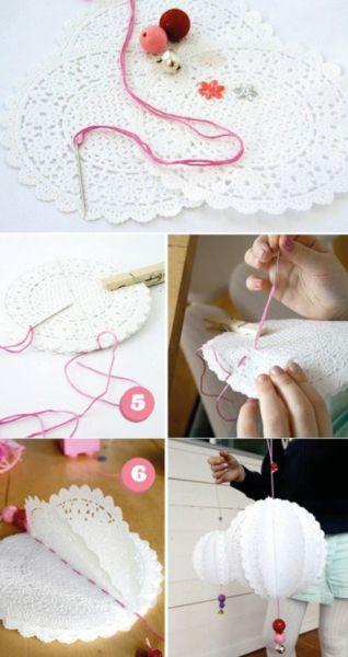 Há lindas ideais criativas para usar doilies em festas (Foto: tarjetasimprimibles.wordpress.com)