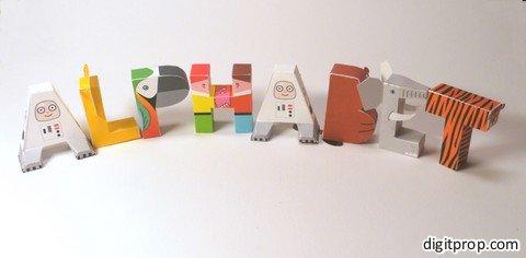 Aproveite muito este alfabeto ilustrado em inglês para imprimir (Foto: digitprop.com)