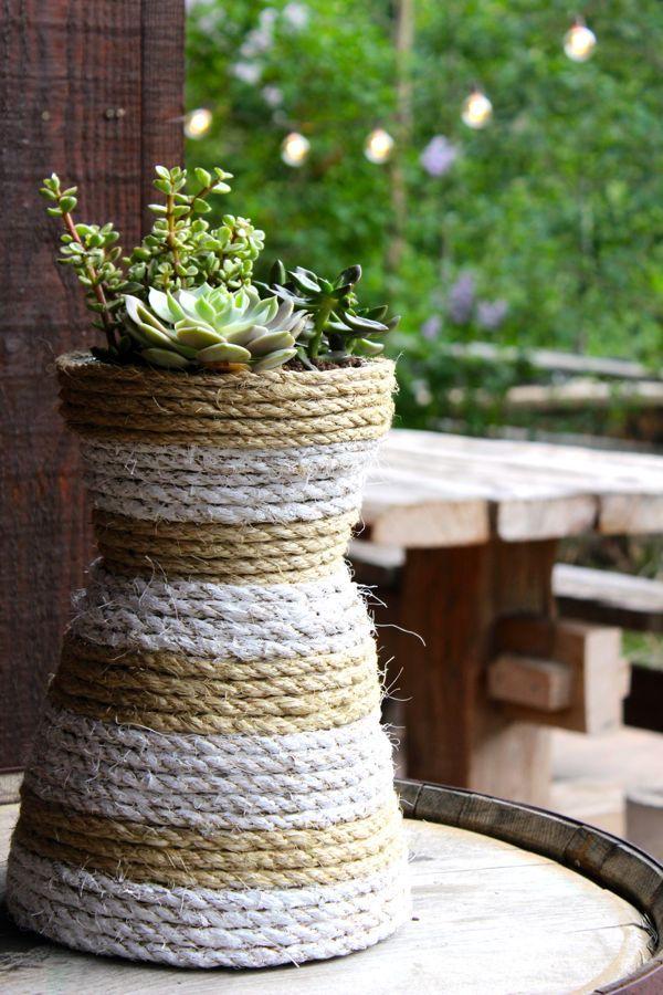 Como Enfeitar Vasos de Plantas Passo a Passo