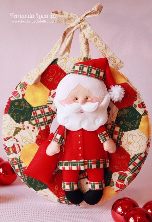 Artesanato Tecido Franzido ~ 24 ideias de artesanatos natalinos em feltro