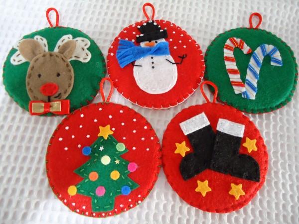 ideias de artesanatos natalinos com feltro
