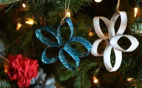 24 ideias de enfeites de natal com rolo de papel higi nico - Decoracion navidena artesanal ...