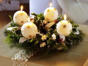 velas enfeitadas para o natal