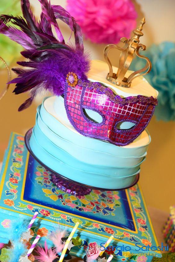 bolo para o carnaval