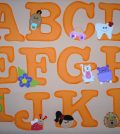 ideias de letras em eva faceis