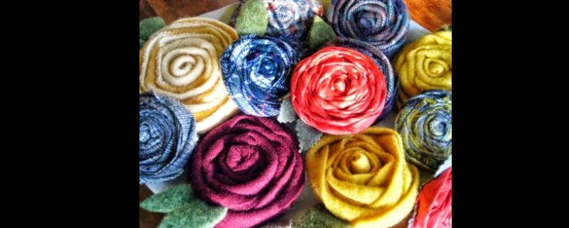 flores com tecido comuns