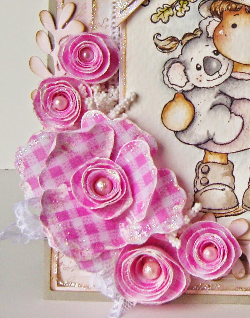 flores com tecido xadrez