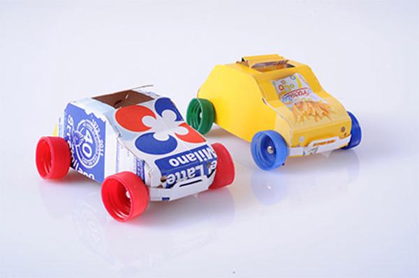carrinho de caixa de leite
