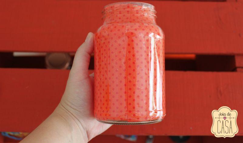 decoração de pote de vidro como fazer