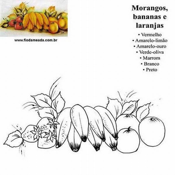 risco de arranjo de frutas